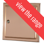 Trimline Victorian Bright Copper Dimmer Switches